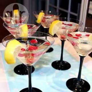 Perziken Martini Met Champagne.