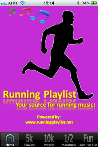 Running Playlist 1.2- screenshot