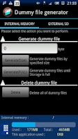 Screenshot of Dummy file generator