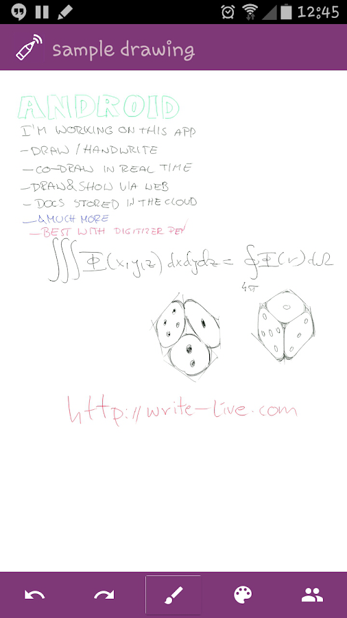 Writelive- screenshot