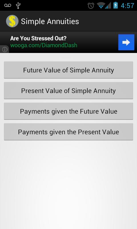 Simple Annuities- screenshot