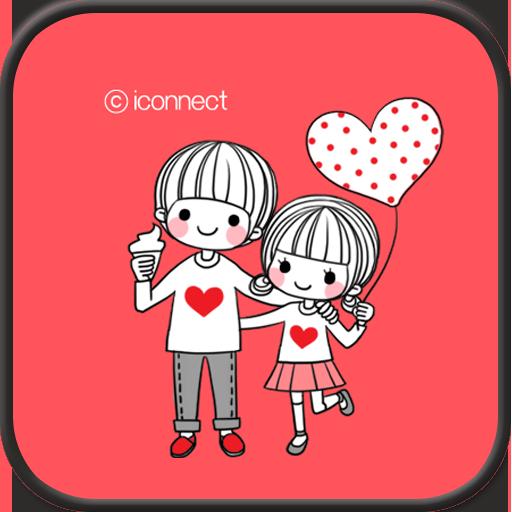 個人化必備App|Dasom couple 1 go locker theme LOGO-綠色工廠好玩App
