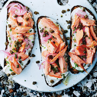 Smoked Salmon Tartines with Fried Capers