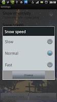 Screenshot of SnowGlobe