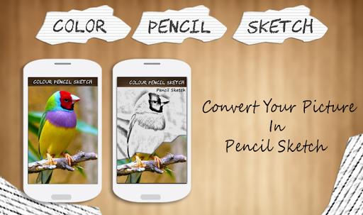색상 연필 스케치 효과
