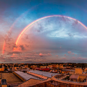 Brooklyn Rainbow by Kevin Gerien - Landscapes Weather ( urban landscape, rainbow, city skyline, panorama, skyscape,  )