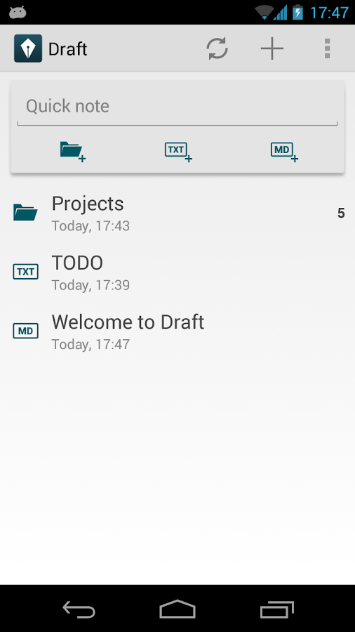 Draft - screenshot