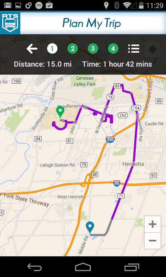 RIT Bus App - screenshot