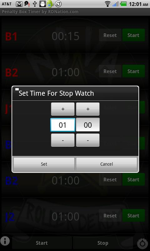 Roller Derby Penalty Timer - screenshot