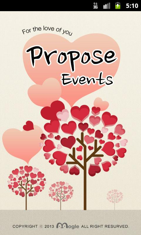 Proposing Events - screenshot