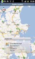 Screenshot of Dealer Locator