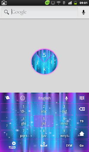【免費個人化App】Glow Galaxy Keyboard-APP點子