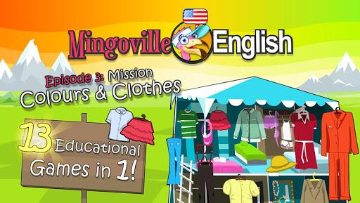 儿童英语 3:Mingoville中的'颜色和衣服'