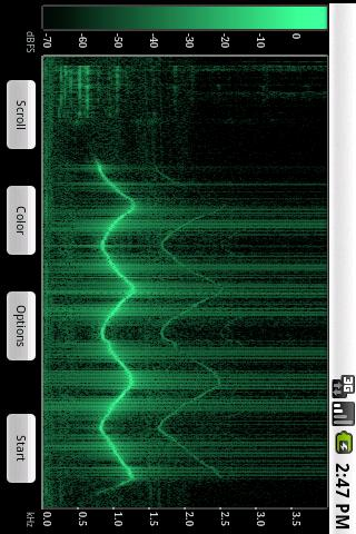 Spectral Audio Analyzer: screenshot