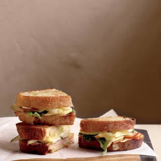 Pressed Ham and Pear Sandwiches.