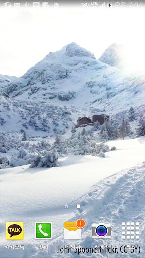 아름다운겨울산배경