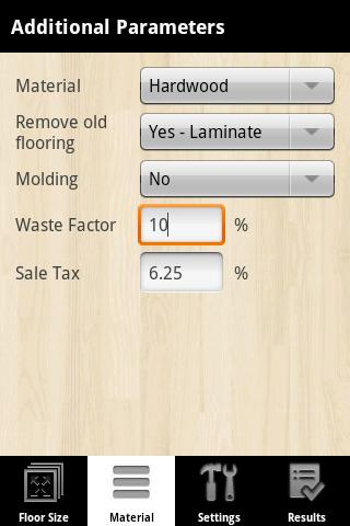 Flooring Calculator Pro Screenshot