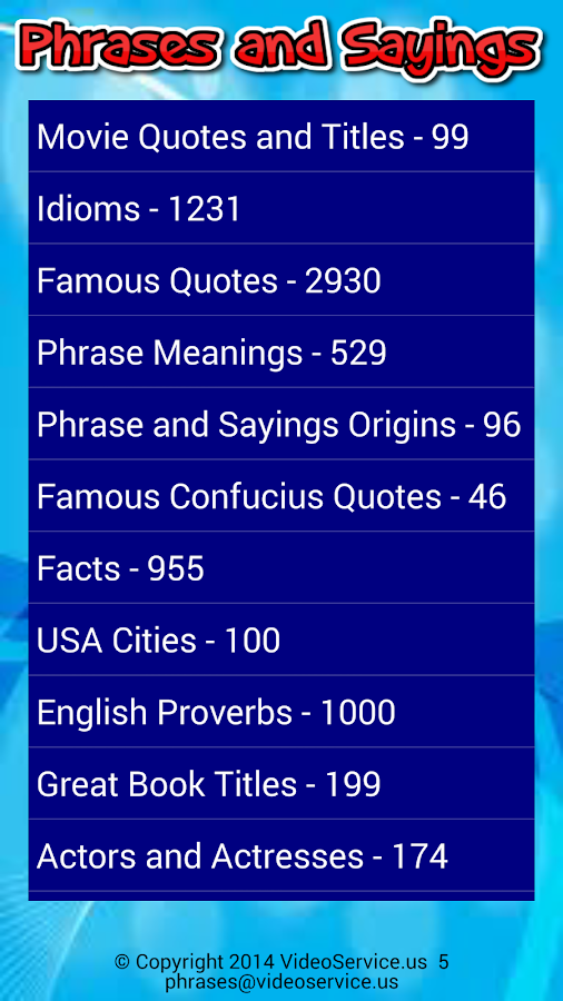 Solve Sayings Lite - screenshot