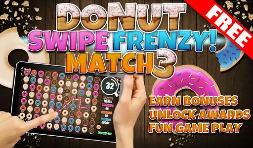 FREE Donut Swipe Match 3 Game