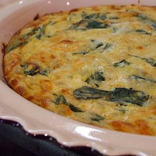 Crustless Spinach & Cheese Quiche.