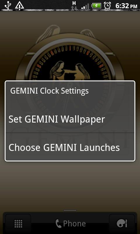 GEMINI - Zodiac Clock - screenshot