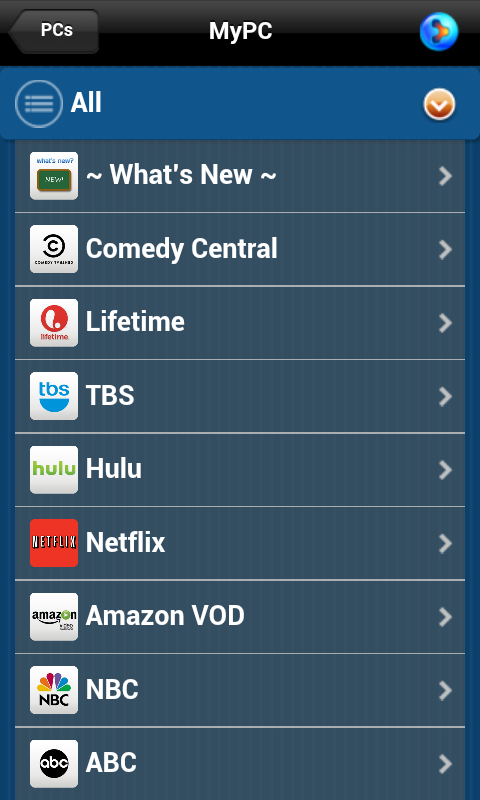 PlayOn for Google TV - screenshot