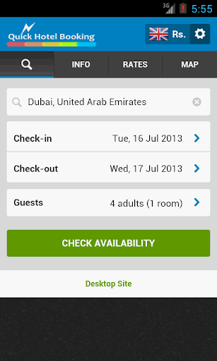 Quick Hotel Booking