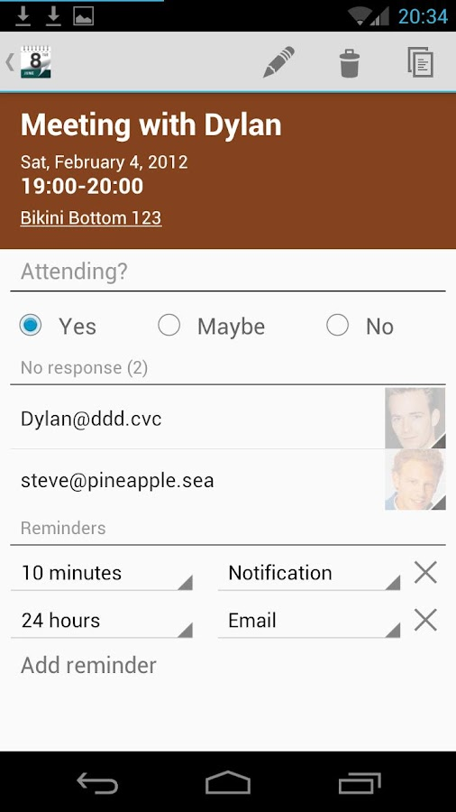 Calendar Droid- screenshot