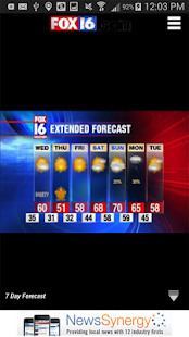 KLRT - FOX16 Weather - screenshot thumbnail