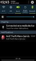 Screenshot of Theft Alarm