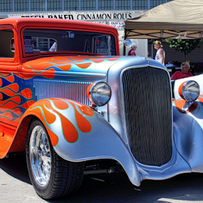 Old Flames by Todd Young - Transportation Automobiles ( blue, orange. color,  )