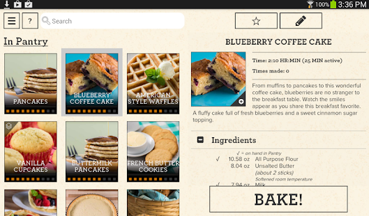 Perfect bake android apps on google play for Perfect bake smart scale