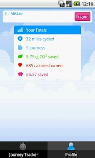 PleaseCycle - BikeMiles - screenshot thumbnail