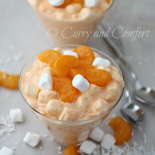 Orange Fluff JELLO Salad #BloggerCLUE.