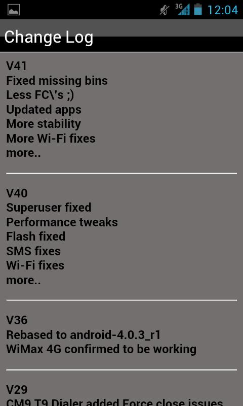 AOSP oICS NS4G ROM Toolbox - screenshot
