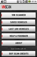Screenshot of VinScan
