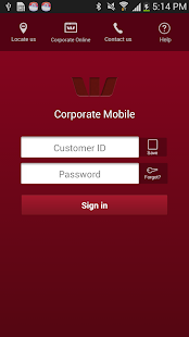 Westpac Corporate Mobile - screenshot thumbnail