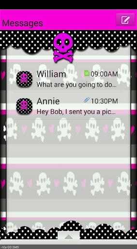 GO SMS THEME ValentineSkulls3