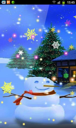Chirstmas Snowmen Ice HD LWP