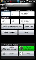 Screenshot of Longitude Latitude Convertor