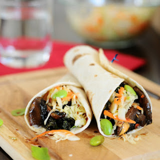 Asian Fusion Veggie Tacos.