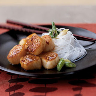 Seared Scallops with Citrus Ginger Sauce.