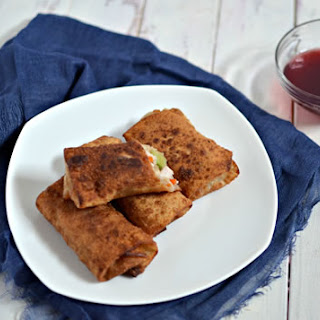 Turkey Egg Rolls with Cranberry Dipping Sauce