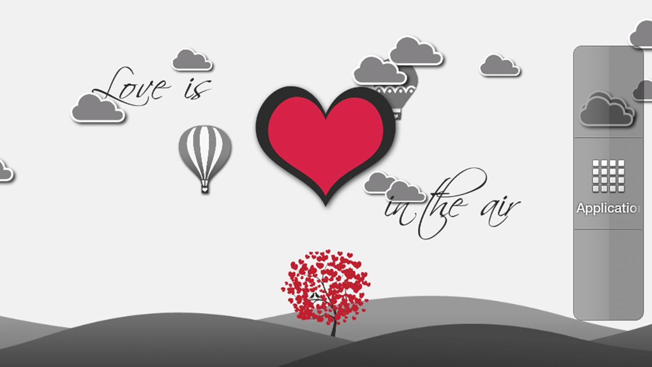 Love is in the air LWP (Free) - screenshot