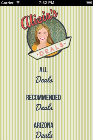 Alicia's Deals - screenshot
