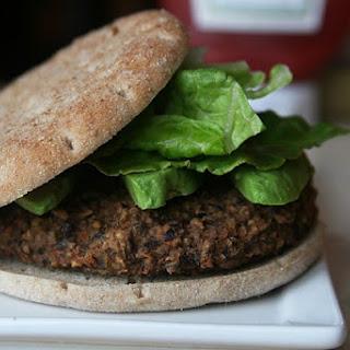 Vegetarian Black Bean Burgers.