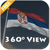 Real Serbia Flag Live Wall