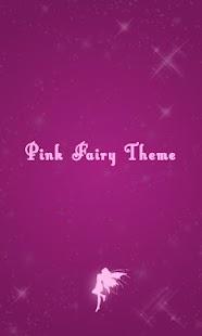 Pink Fairy Theme - GO SMS Pro
