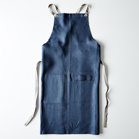 Slate-Blue Kitchen Apron