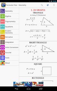Maths Formulas Free v9.0